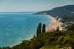 Albena. Sea resort Albena, on the Black Sea, showing high Stock Photography