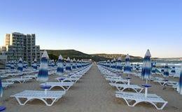 Albena strand, Bulgarien Royaltyfria Bilder