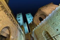 Albenga на ноче Стоковое Изображение