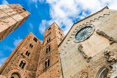 Albenga katedra, Savona, Liguria, Włochy obraz stock