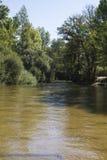 Alberche riverbank in Toledo, Castilla La Mancha, Spain Stock Photo