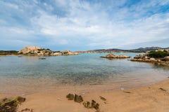 Alberello beach in Sardinia, Italy. Spiaggia dell Alberello beach in Isola Giardinelli island in Sardinia, Italy royalty free stock photography