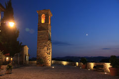 Albereto bij nacht in Italië Royalty-vrije Stock Foto's