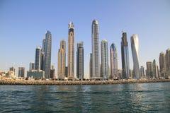 Albergo di lusso del porticciolo del Dubai fotografie stock