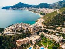 Albergo di lusso Dukley complesso in Budua, Montenegro Fucilazione con Fotografia Stock