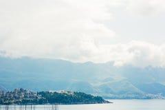 Albergo di lusso Dukley complesso in Budua, Montenegro Fucilazione con Immagini Stock Libere da Diritti