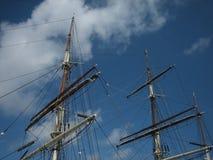 Alberi alti della nave Fotografie Stock Libere da Diritti