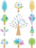 Alberi Colourful Immagini Stock Libere da Diritti