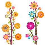 Alberi del fiore illustrazione di stock