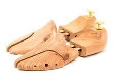 Alberi del paio di scarpe isolati su bianco Immagine Stock