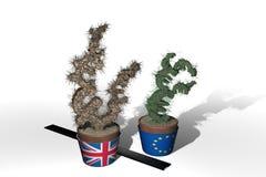 Alberi della libbra e dell'euro Fotografia Stock