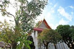 Alberi della priorità alta ed architettura tailandese a Wat Pho Fotografie Stock