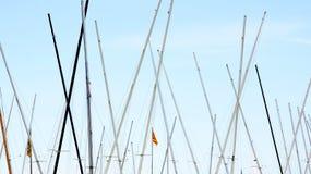 Alberi delle barche a vela Fotografia Stock