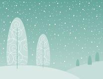 Alberi di inverno illustrazione vettoriale
