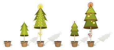 Alberi di Natale Fotografia Stock Libera da Diritti