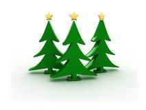 alberi di natale 3d Immagine Stock Libera da Diritti