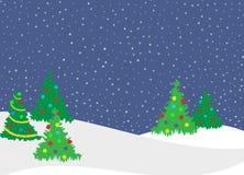 Alberi di Natale Fotografia Stock