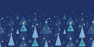 Alberi di Natale astratti di festa orizzontali illustrazione di stock