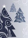 Alberi di Natale blu Fotografia Stock Libera da Diritti