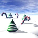 Alberi di Natale, canne di caramella, Fotografia Stock Libera da Diritti