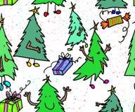 Alberi di natale che si preparano per il Natale immagine stock