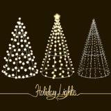 Alberi di Natale d'ardore Immagine Stock Libera da Diritti