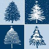 Alberi di Natale decorativi Fotografia Stock