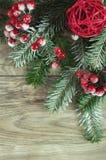Alberi di Natale dei ramoscelli Fotografie Stock
