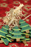 Alberi di Natale di legno Immagine Stock