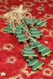 Alberi di Natale di legno Fotografie Stock Libere da Diritti