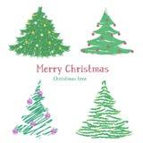 Alberi di Natale differenti Immagine Stock Libera da Diritti