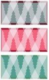 Alberi di Natale geometrici Immagine Stock