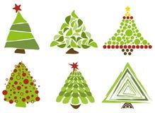 Alberi di Natale isolati Immagine Stock