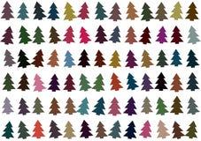 Alberi di Natale modello, fondo Fotografie Stock