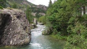 Alberi di pietra di verde del fiume fotografia stock libera da diritti