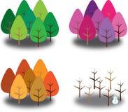 Alberi di quattro stagioni Immagine Stock Libera da Diritti