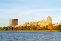Alberi di stagione di caduta in Central Park Fotografia Stock