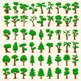54 alberi di vettore del fumetto Immagine Stock