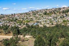 Alberi e insediamento urbano ammucchiato di distretto in Marianne Hill Immagine Stock