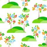 Alberi in fioritura illustrazione di stock