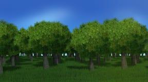 alberi forestali 3D Fotografia Stock