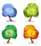 Alberi - le quattro stagioni Immagine Stock