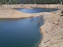 Alberi morti nel lago Fotografia Stock