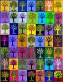 alberi Multi-colorati. mosaico background.cover Fotografie Stock Libere da Diritti