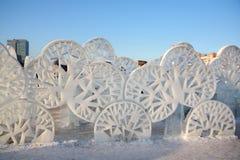 Alberi nella città del ghiaccio Fotografia Stock Libera da Diritti