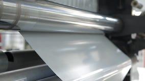 Alberi rotanti su una fabbrica stock footage