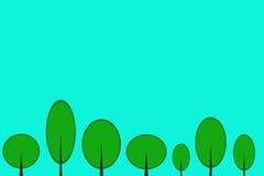 Alberi sul campo Immagini Stock