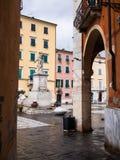 Alberica fyrkant i staden av Carrara Royaltyfria Bilder
