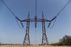 Alberino ad alta tensione elettrico di potenza Fotografia Stock