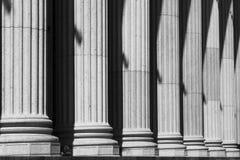 alberino dell'ufficio delle colonne Immagini Stock Libere da Diritti